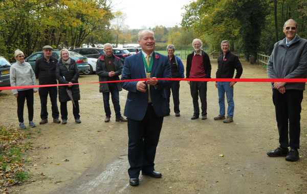 picture of official opening of car park extension